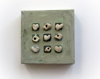 House Blessings, Unique Housewarming Gift, Unique Gift Idea,Heart Rocks Art, from Israel, Beach House Wall Decor, Unusual Gift, Exotic Gift