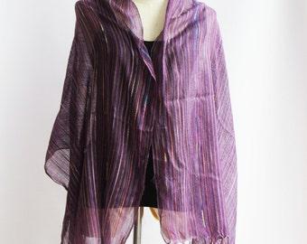 SC1, V Northern Tribe Purple Cotton Scarf