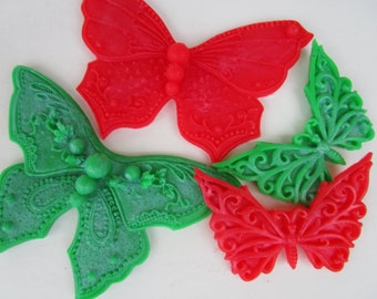 Christmas stocking stuffer - Butterfly Soap - Christmas gift set , gifts for teen, gift for her