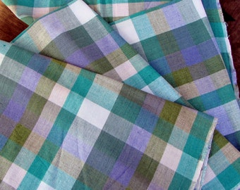 Guatemalan Fabric in Meadow Plaid