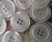 50 Pieces Ivory Plastic Buttons, 21 mm, 4 Holes. Great for  Jackets, Scrap-booking, Home Decor