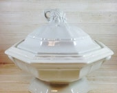 Vintage Red Cliff Ironstone Covered Tureen