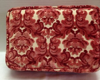 "Vintage Rectangle Cut Velvet Pillow 12"" by 8"""