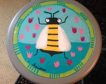 Stool furniture bumblebee bee hand-painted studio baby room industrial
