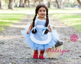 Get it in time for HALLOWEEN! Dorothy Wizard of Oz Girls Inspired Tutu Costume 6mo, 12mo, 18mo, 24mo, 2t 3t 4t 5t