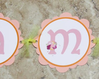 VIntage floral wedding themed banner- 13 characters