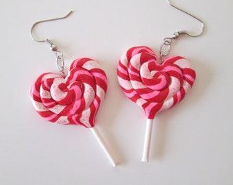 Heart Lollipop Earrings