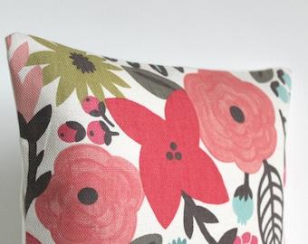 Floral Pillow Cover, 18x18 Cushion Cover, 18 Inch Pillow Sham - Potpourri Zest