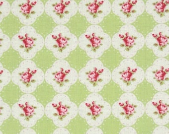 Tanya Whelan - Rosey - Cameo Rose in Green - cotton quilting fabric