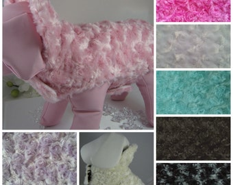 Fur Dog Coat Reversible - Any Fabric - Any Size - Item 5303