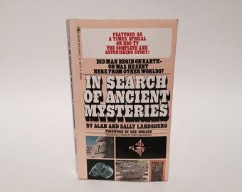 Vintage Book In Search of Ancient Mysteries by Alan & Sally Landsburg 1974 Paperback