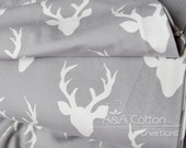 Stretch fabric, KNIT Jersey Cotton Fabric, Buck Forest Mist in Knit, Hello Bear Collection, Art Gallery Fabric, Legging fabric Jersey Fabric