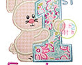 """First Easter Applique,  Sizes 4x4, 5.5"""", 5x7, & 6x10, the word """"Easter"""" is included, INSTANT DOWNLOAD available"""