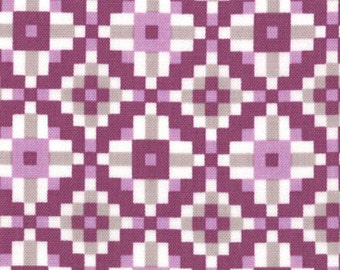 Serenade by Kate Spain - Damson Kaleidoscope (27115-22) - 1 Yard