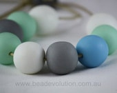 Resin Ball String Necklace, Mint