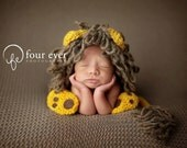 newborn hat... newborn lion set..knit hat... Photography Prop Many..photo prop..Newborn photo prop..20% off with code VALEN1 at checkout