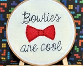 "Bowties are Cool 6"" Hand Embroidery"