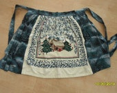 NEW Extra Large Half Apron Winter Scene Tienshan Cabin In The Snow Towel Insert