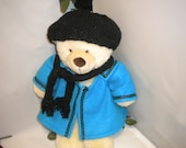 Build-a-Bear Turquoise and Black Coat 3 Piece Set