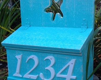 Large Mailbox Address Number Box Or Wedding Card Box by CastawaysHall