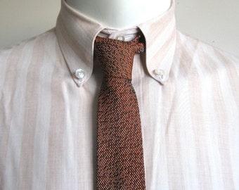 Vintage 1960s Neckties Ultra Skinny Beatlemania Russet 60s Mod Necktie
