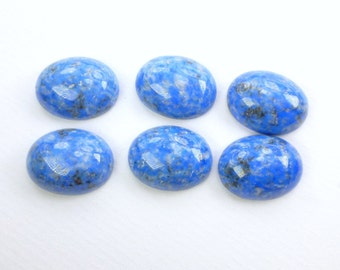 DeNiM LaPIS. Natural. SUPERb Quality. Smooth Cabochons. CALiBRATED. Oval. Matched Pair. 2 pc. 29.38 cts. 14x18 mm (Lap264)