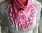 Bandanas, Breast Cancer Awareness, Neck Scarf, Boho, Wearable Art, Western Wear