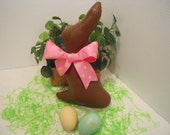 SPRING, Easter, Bunny Faux Chocolate, Pink and Green Bow