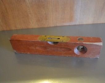Antique Wood Carpenter Level