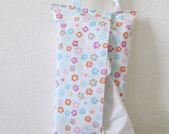 Hanging Tissue Box Cover For Skinny Kleenex/Flower