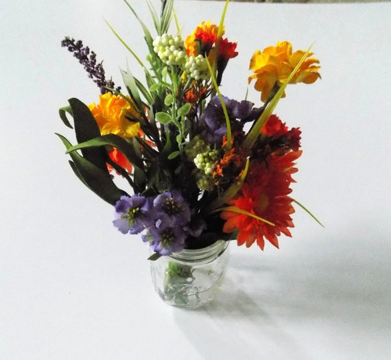 Wildflower Centerpieces for Mason Jars Wine Bottle Silk