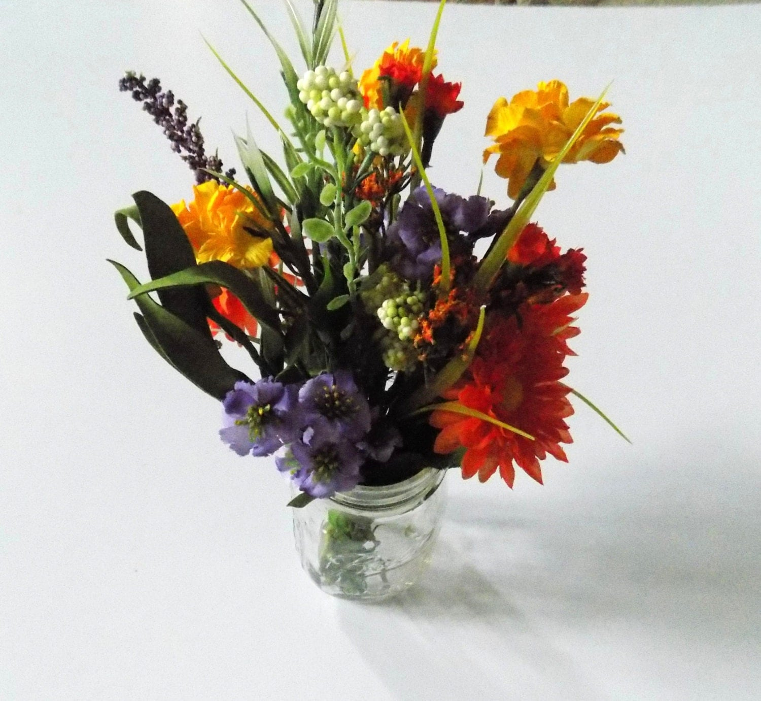 Flower Arrangements In Wine Bottles: Wildflower Centerpieces For Mason Jars Wine Bottle Silk
