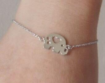 Sterling Silver Elephant Bracelet, Kids Bracelet, Children Jewelry, Children Gift, Birthday Gift
