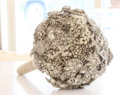 Custom Large Art Deco Crystal and Marcasite Brooch Bouquet - 1920s Authentic Vintage Jewelry - Heirloom Bling Bouquet