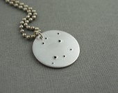 Zodiac Constellation Horoscope Hand Stamped Necklace Pendant Aluminum