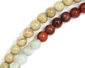 "CLEARANCE Snakeskin ""Opal"" (Tri Color) Beads - 4mm Round - Full Strand"