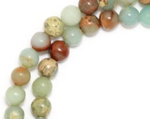 Impression Stone Beads - 4mm Round - Full Strand