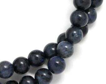 Dumortierite (Dark Blue) Beads - 6mm Round
