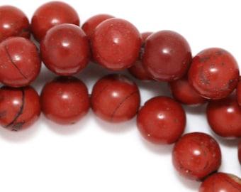 Red Jasper Beads - 6mm Round - Full Strand