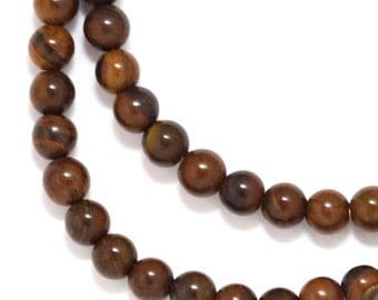 Tiger Iron Beads - 4mm Round - Full Strand