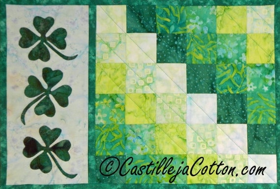 items similar to shamrock placemat epattern 4720 1 st patrick 39 s day placmats march placemats