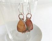 Red Creek Jasper Earrings with Copper Balls