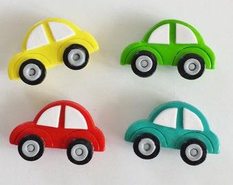 Magnets Beep Beep Cars Handmade Polymer Clay VW Bug Magnets ( 2 )