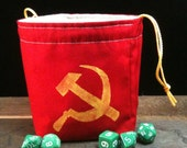 Hammer and Sickle - Soviet Inspired WW2 Dice Bag