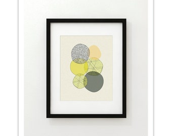 ELEMENTS no.25 - Giclee Print - Mid Century Modern Abstract Modern