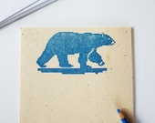 Polar Bear Stationary Set eco-friendly 8 bit blue bears stationery