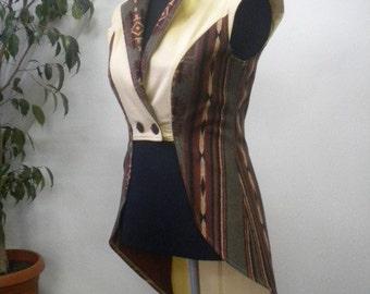 Stylish and elegant ladies asymmetrical bodice