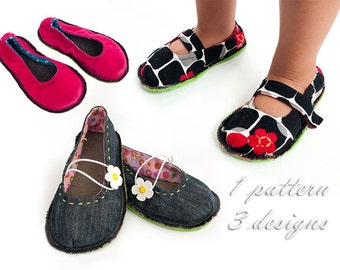 KISS Denim Kids Shoe Sewing Pattern