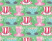 Blend Fabrics Josephine Kimberling Cups of Comfort in Green Christmas Holiday Fabric One Yard