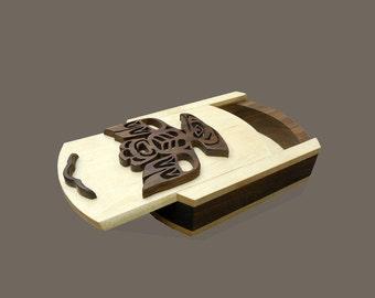 Eagle First Nations Native Aboriginal Design Jewelry Trinket Box Sliding Lid